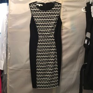 Black and white slimming Sheath dress sexy! 10